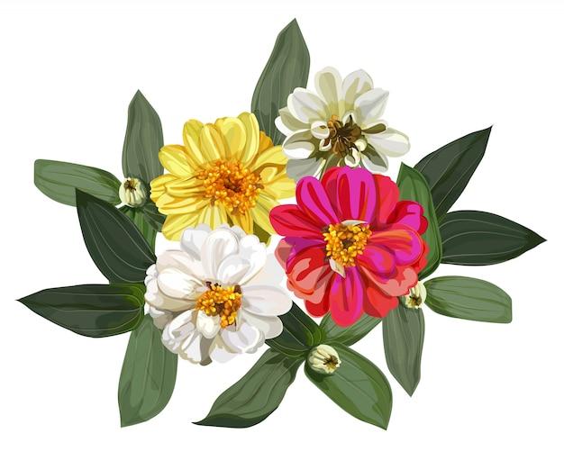 Bouquet di fiori di zinnia