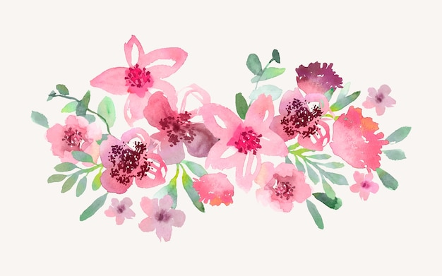 Bouquet di fiori in acquerello