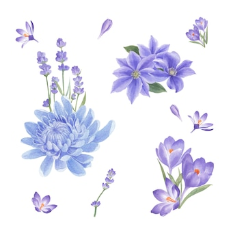 Bouquet di fiori invernali con crisantemo, gigli