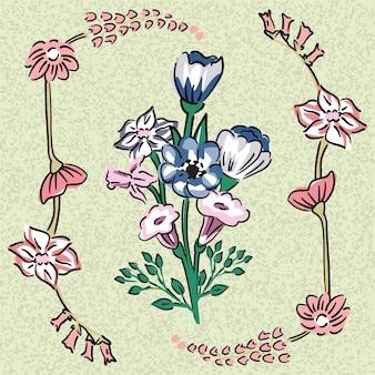 Bouquet di fiori selvatici d'ulivo