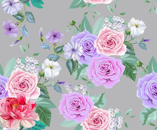 Bouquet di fiori senza soluzione di continuità