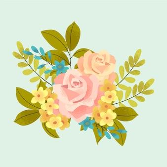 Bouquet floreale vintage colorato