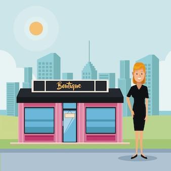 Boutique store e imprenditrice