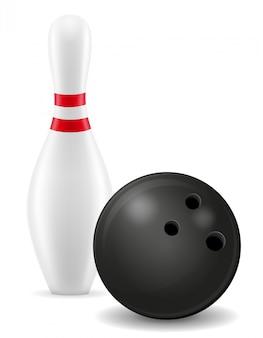 Bowling ball e pin