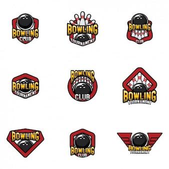 Bowling logo modelli di progettazione