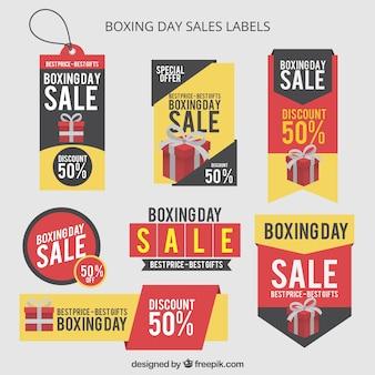 Boxe etichette di vendita al giorno