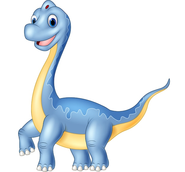 Brachiosaurus gigante del dinosauro su fondo bianco