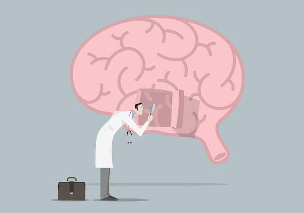 Brain diseases research concept