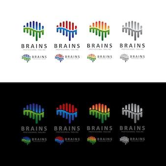 Brain shape sound wave logo
