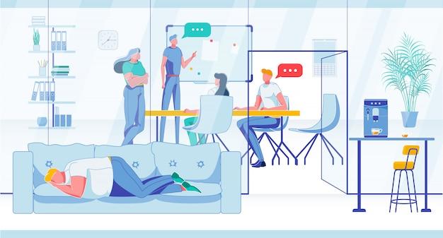Brainstorming o formazione per i dipendenti dell'azienda.