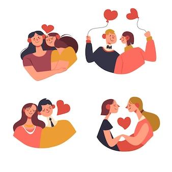 Branco di coppie di san valentino