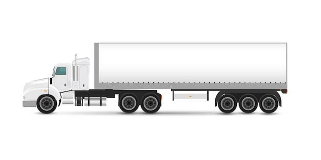 Branding mockup set di camion rimorchio, furgone di consegna