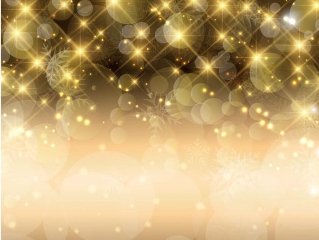 Brillante bokeh sfondo dorato