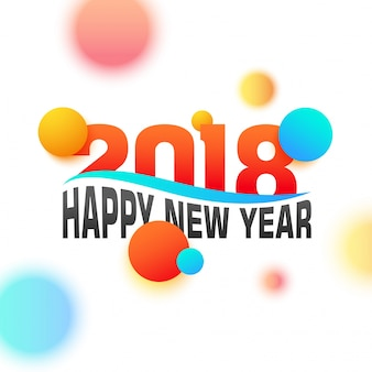 Brillante testo colorato 2018 per le celebrazioni del buon anno