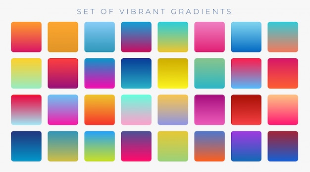 Brillante vibrante insieme di gradienti di sfondo