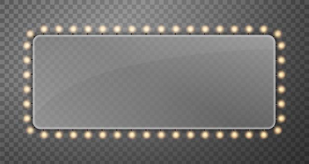 Brillare le luci del tabellone per le affissioni delle lampadine a corda.