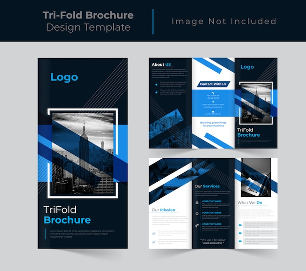 Brochure a tre ante aziendale creativa