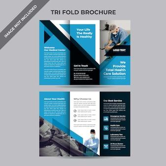Brochure a tre ante per la salute