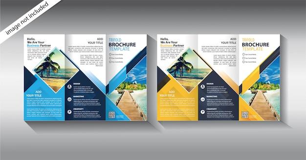 Brochure a tre ante per modello di promozione