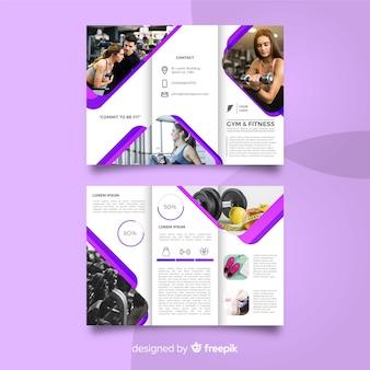 Brochure a tre tempi della palestra