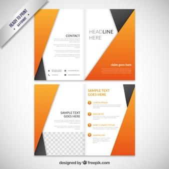 Brochure astratto arancione
