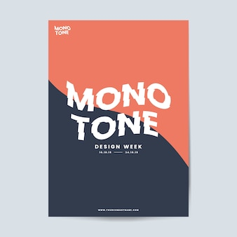 Brochure aziendale e modello di poster