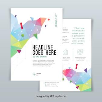 Brochure aziendale in formato a5 con stile astratto