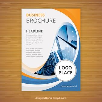 Brochure aziendale piatta in formato a5
