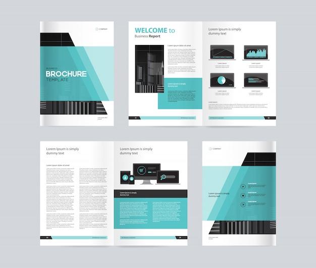 Brochure aziendale verde e nera