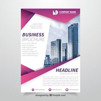 Brochure aziendali rosa e bianca