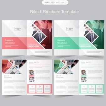 Brochure bifold di business professional