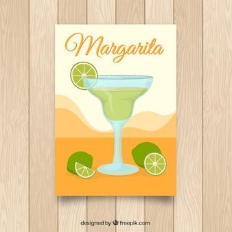 Brochure con cocktail margarita