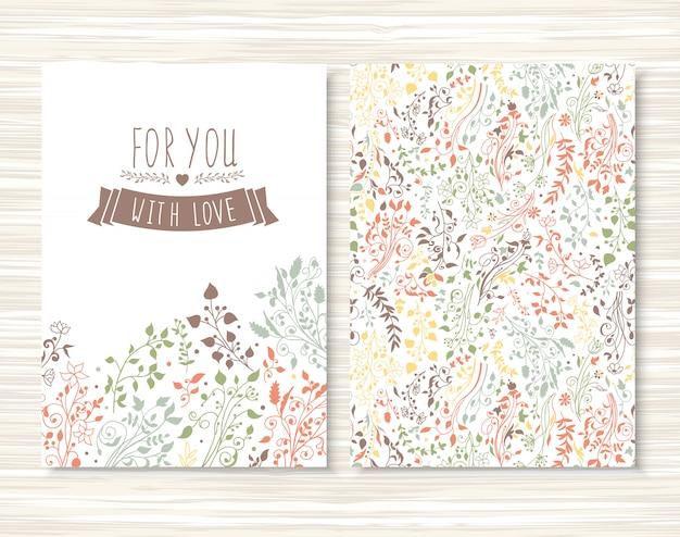 Brochure con motivo floreale