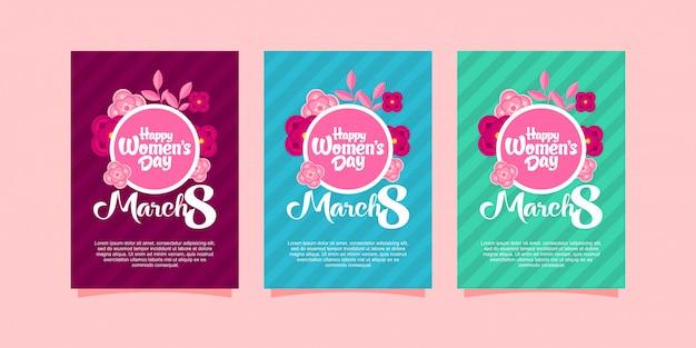 Brochure del giorno delle donne felici
