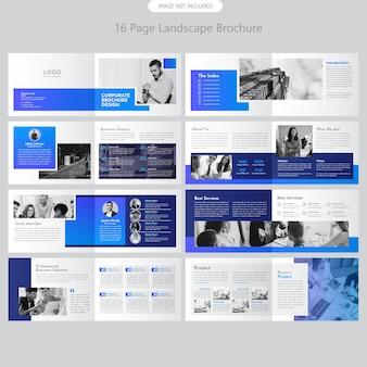 Brochure del paesaggio aziendale