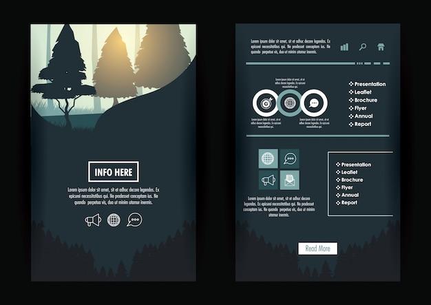 Brochure della foresta infografica