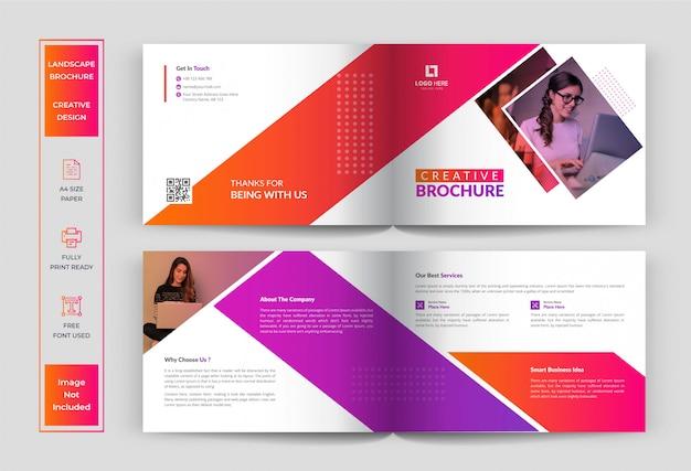 Brochure design colorato paesaggio, brochure aziendale o aziendale