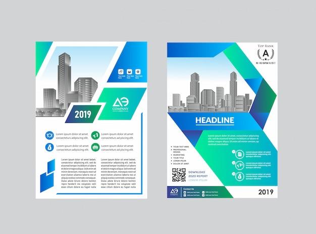 Brochure di catalogo brochure di layout semplice copertina per sfondo