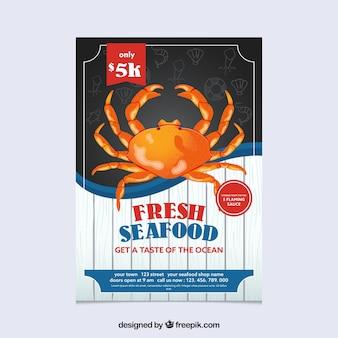 Brochure di frutti di mare vintage