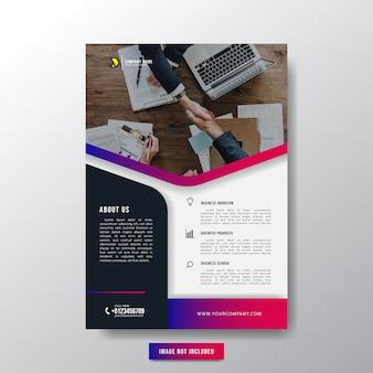 Brochure flyer aziendale minimalista per uomo d'affari