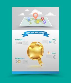 Brochure flyer layout design grafico
