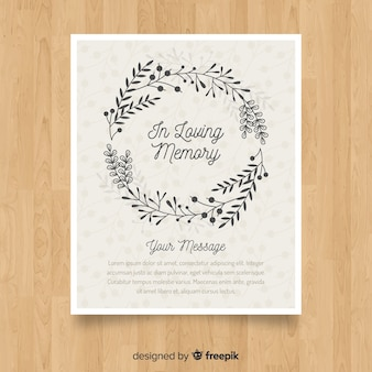 Brochure funeraria classica con stile elegante