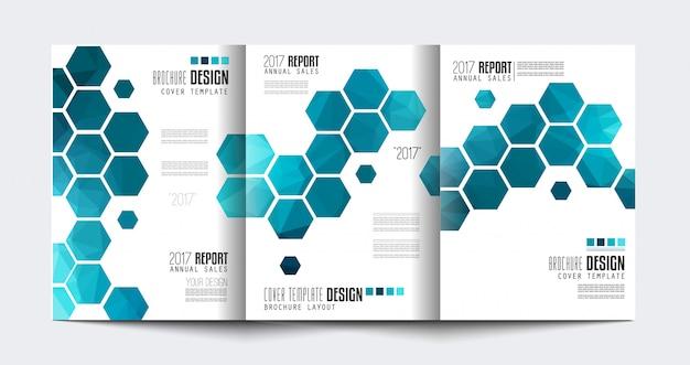 Brochure modello a tre ante