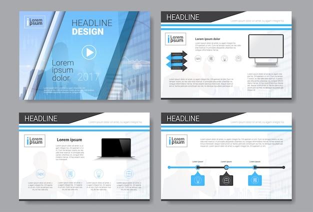 Brochure modello di progettazione, relazione annuale, rivista, poster, presentazione aziendale