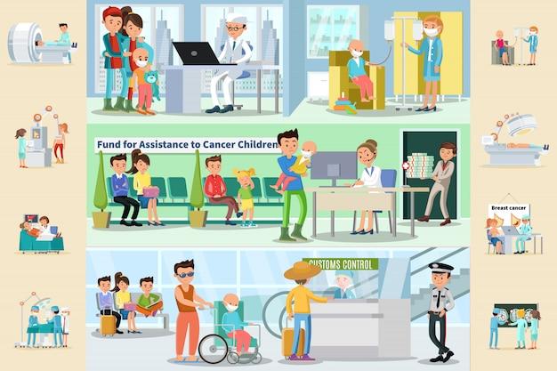 Brochure orizzontali sulla malattia del cancro