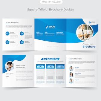 Brochure quadrata a tre colori
