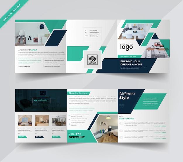 Brochure ripiegabile di real estate square