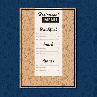 Brochure ristorante menu cafe.