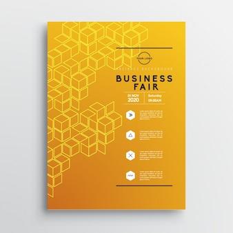 Brochure template affari