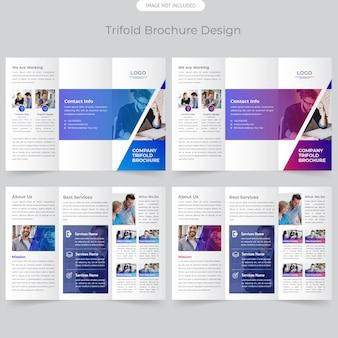 Brochure trifold dell'azienda